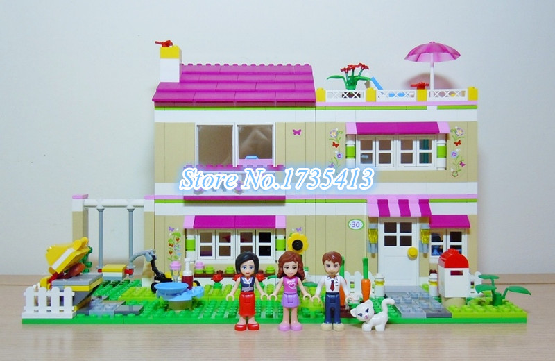 ФОТО AIBOULLY 10164 Friends Olivia's House Blocks Bricks Toys Girl Game Castle Gift Bricks Gift Toys Compatible 3315 Free Shipping