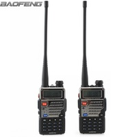 2pcs New BaoFeng UV 5RE Plus Black Two Way Radio Dual Band 136 174 400 520MHz