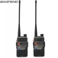 2pcs New BaoFeng UV 5RE Plus Black Two Way Radio Dual Band 136 174 400 520MHz