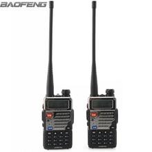 2pcs nuevo BaoFeng UV-5RE + Plus negro de dos vías de radio banda dual 136-174 y 400-520 MHz walkie talkie barato con envío gratis