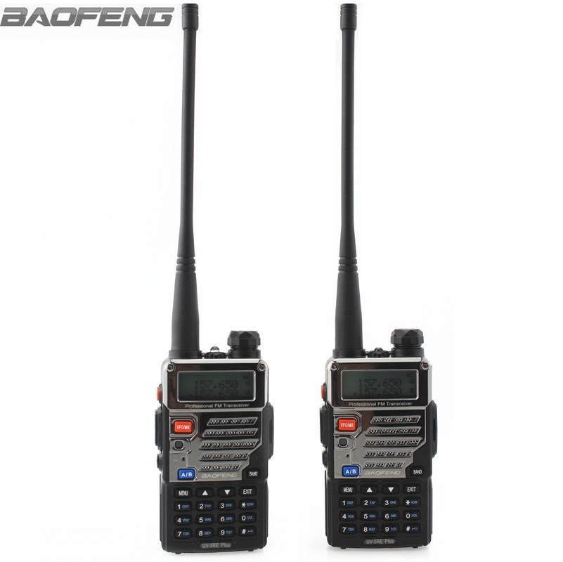 2pcs BaoFeng Walkie Talkie UV-5RE Plus Portable Amater Ham Two Way Radios Dual Band 136-174&400-520MHz For Trucker Hunting