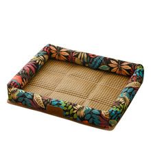 Square simple summer rattan kennel mat pet nest four seasons universal creative rest supplies