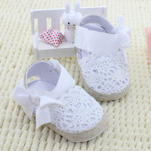 ARLONEET 2019 NewBaby Girl Newborn Shoes Spring Summer Sweet Very Light Big Bow Knitted Dance Ballerina Dress Pram Crib ShoeN04(China)