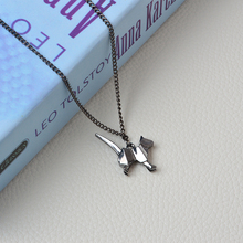 Origami Cat and Dog Silhouette Pendant Necklace For Women and Men