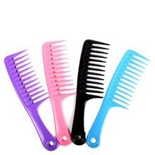 Geniş diş kuaförlük tarak şeffaf saç peruk tarak saç Detangle büyük saç tarak için Ideal uzun saç pürüzsüz 23.8cm