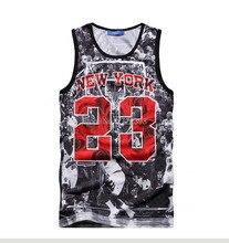 New Summer vest top ball game Jordan 23 Print men jersey brand fitness fashion men 3d