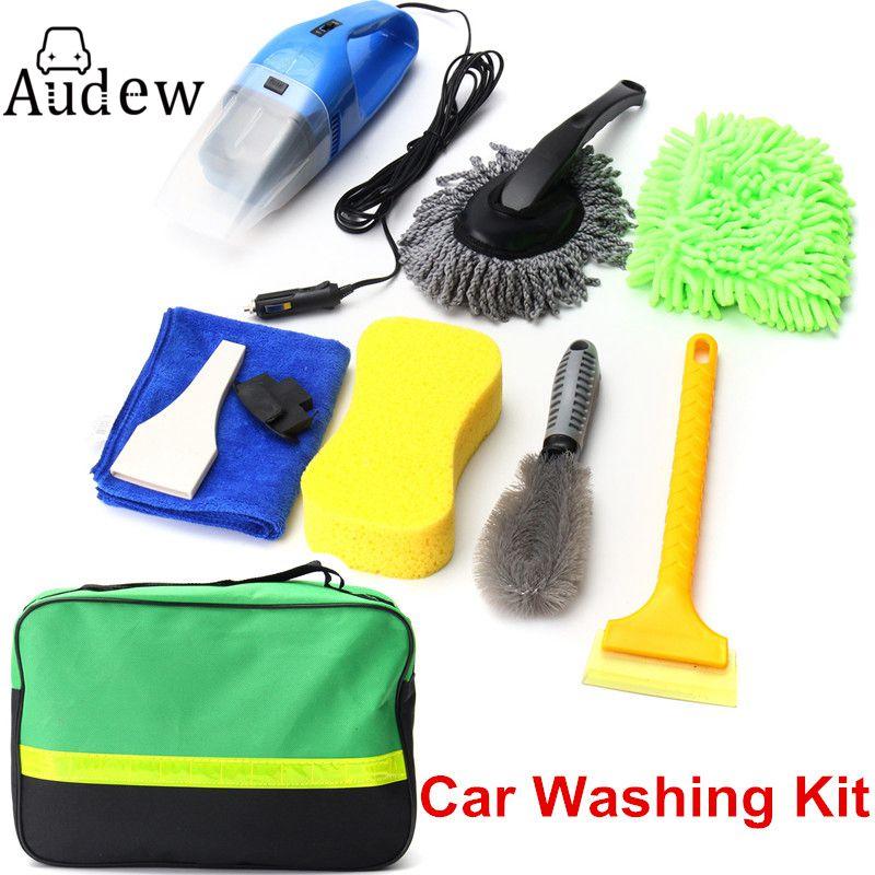 8pcs car wash interior exterior cleaning kit vacuum cleaner shovel sponge glove in sponges. Black Bedroom Furniture Sets. Home Design Ideas