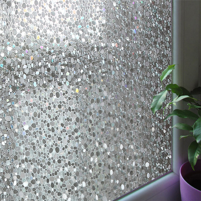 45*440cm Frosted Privacy Glass Window Film Static Cling Removable Pure White For Office Bathroom Decorative Film