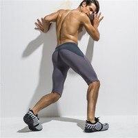 Sport Atletici degli uomini Pantaloni Allenamento Fitness Compressione Collant Pantaloni Quinto Mesh Traspirante Dry Costumi Da Bagno Surf Shorts