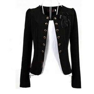 Image 1 - 여성 블레이저 2018 플러스 사이즈 l ~ 4xl 5xl 아웃웨어 캐주얼 슬림 숏 레이디 블레이저 코트 브로치와 자켓 chaqueta mujer jaqueta