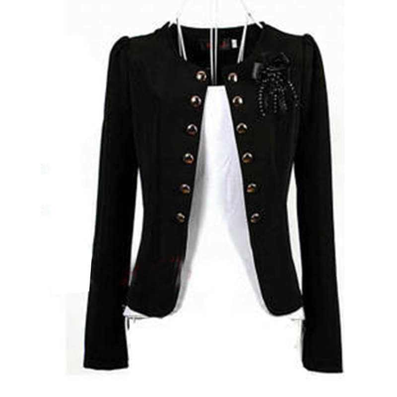 Women Blazers 2018 Plus Size L~4XL 5XL Outwear Casual Slim Short Lady Blasers Coats Jackets With Brooch Chaqueta Mujer Jaqueta