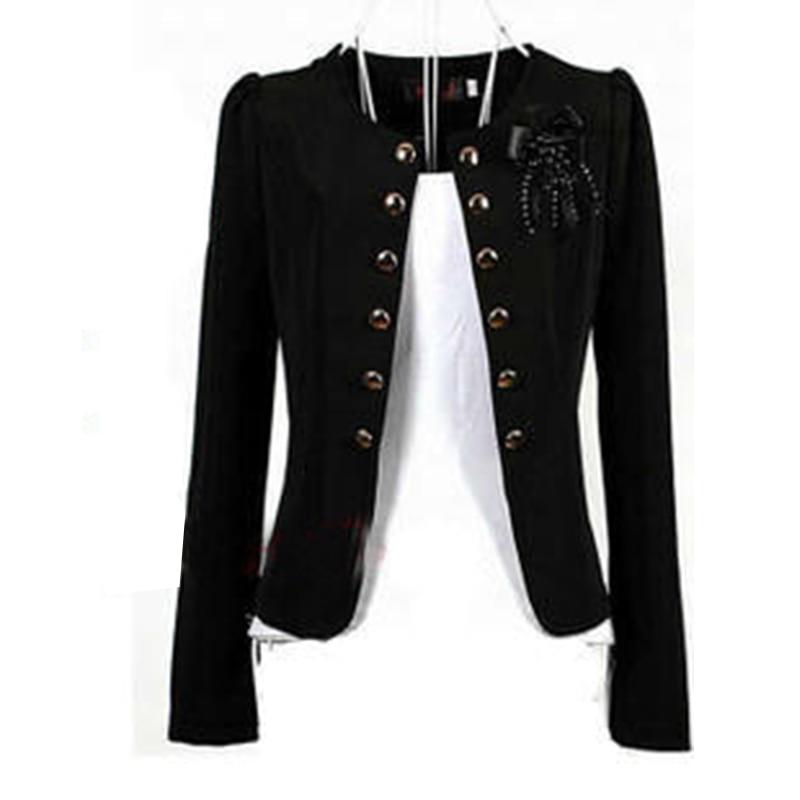 Women Blazers 2018 Plus Size L~4XL 5XL Outwear Casual Slim Short Lady Blasers Coats Jackets With Brooch Chaqueta Mujer Jaqueta