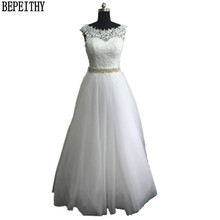 BEPEITHY Princess Vintage Ball Gown Lace Wedding Dress Crystal Sash Best Selling Vestido De Novia Cheap