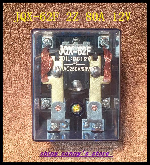 1Piece JQX-62F 2Z 80A  DC 12V Coil High Power Relay Brand New женские толстовки и кофты new brand 2015 ballinciaga 2 piece 8718