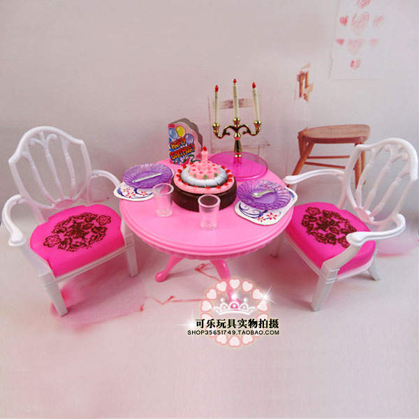 Lady birthday present occasion time Play Set Furnishings equipment desk go well with doll equipment for barbie doll,doll furnishings