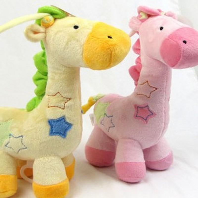 Baby Pull Mobiele Giraffe Muziekdoos Bel Dinosaurus Bel Opknoping Auto Bed Knuffels Pasgeboren Baby Leuke Geschenken