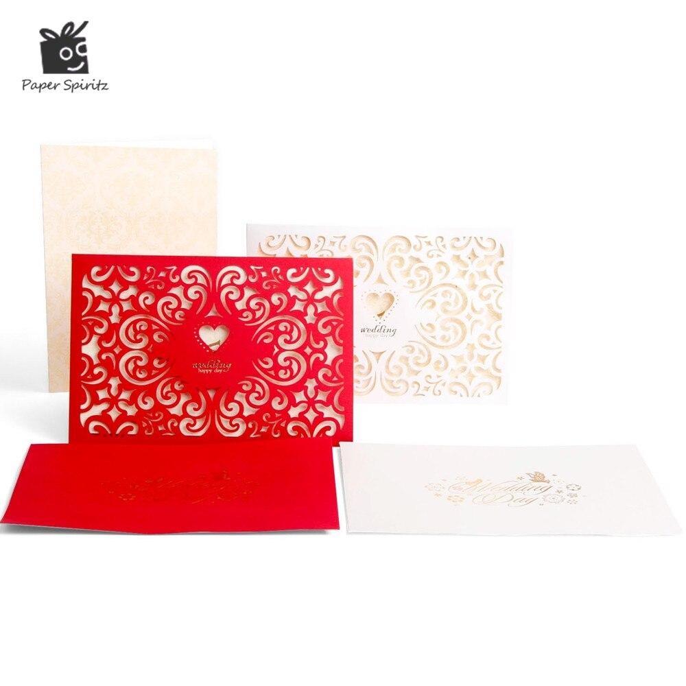 Wedding Invitation Cards Laser Cut 3d Anniversary Lace Custom Pocket ...