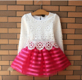 New Style Summer Kids Beautiful Dress Girls Lace TUTU Dress Long Sleeve Princess dress Children's Clothes Free Shipping