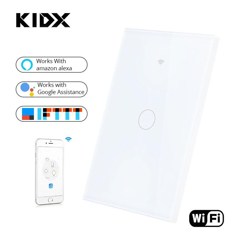 Interrupteur tactile intelligent SESOO WIFI APP interrupteur mural sans fil à distance avec panneau en verre cristal fonctionne avec Alexa/Google Home