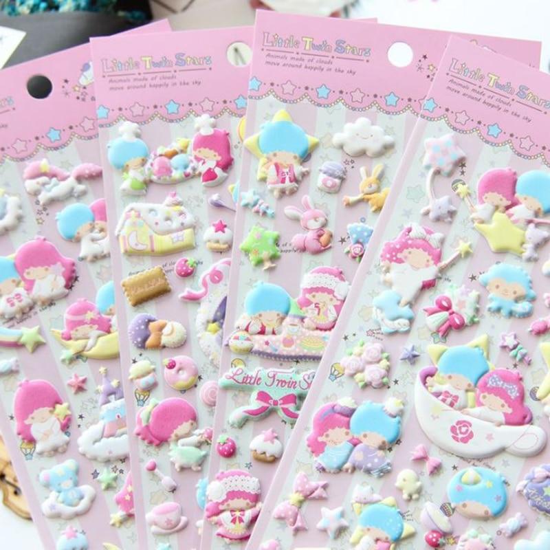 все цены на 1 Pc Cute Little Twin Stars Decorative Washi Stickers Scrapbooking Stick Label Diary Stationery Album Stickers