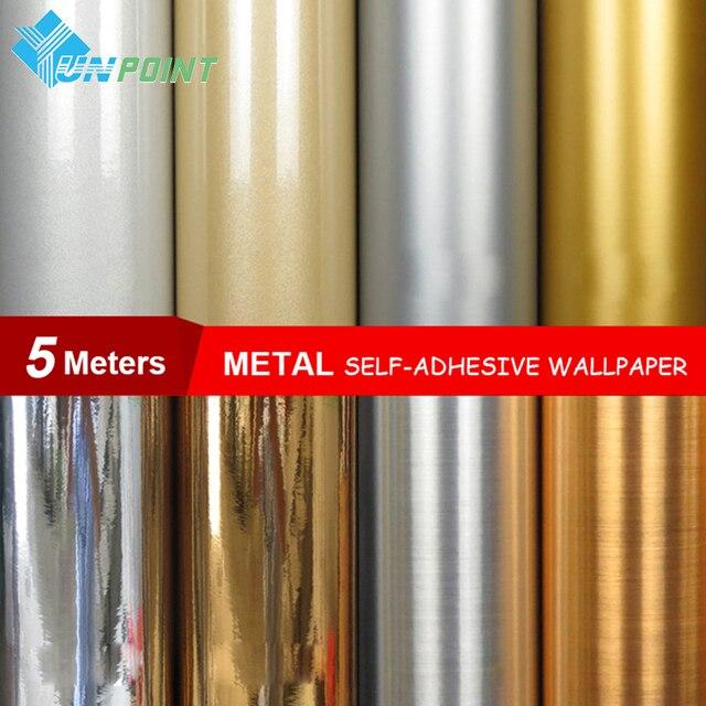 0,6*5 Meter/rolle Wasserdicht glitter stoff aufkleber spiegel metall ...
