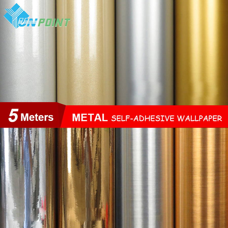 0.6*5Meters/roll Waterproof glitter fabric stickers mirror metal wallpaper silver gold paper self adhesive film home decoration south carolina gamecocks indoor banner scroll sku pas233835