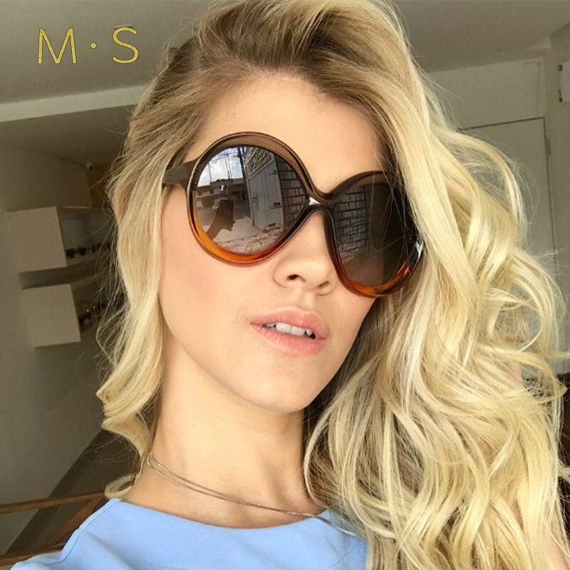 MS Vintage Round Sunglasses Women Fashion Designer Eyewear UV400 Female Sun Glasses Sun Girl J61