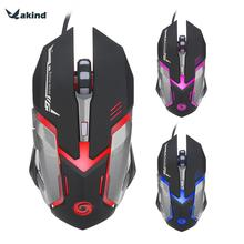 Professional 6 Button 3200DPI Wired Gaming Mouse LED Optical USB Computer Cable Mouse for PC Laptop Pro Gamer