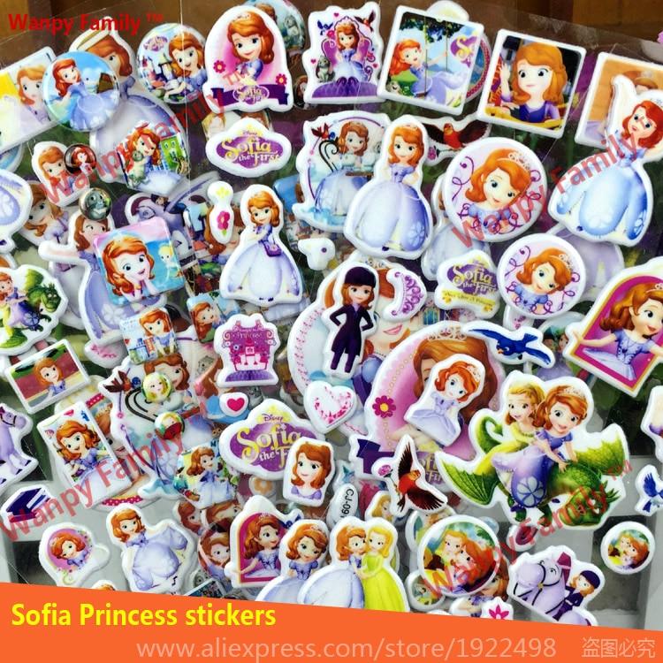 065 29 De Descuentopegatinas Muy Encantadoras De La Pared De Sofia Pegatinas De Princesa De Dibujos Animados En 3d Pegatinas De Decoración De