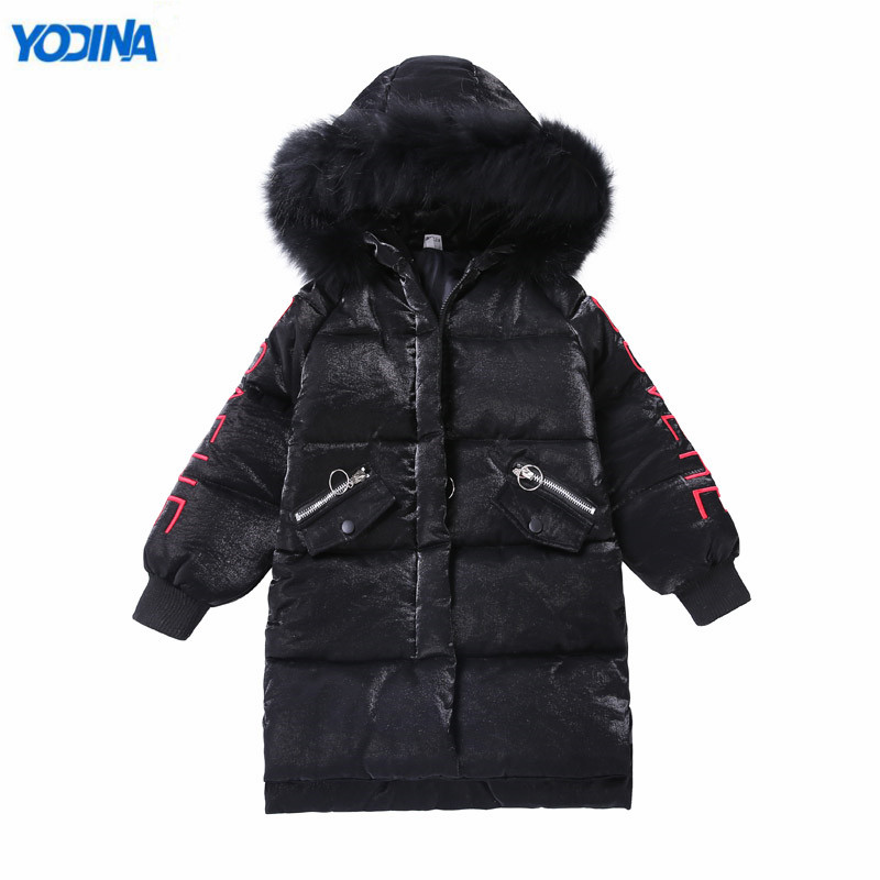 YODINA High Quality Kids Winter Parkas Girls Boys Thicken Jackets For Cold Children Fur Hooded Parkas Boys Snow Outerwear & Coat children winter coats jacket baby boys warm outerwear thickening outdoors kids snow proof coat parkas cotton padded clothes