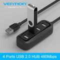 Конвенция высокоскоростной мини 4 разъём(ов) USB 2.0 концентратор USB порт для пк компьютер ноутбук периферия аксессуары