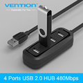 Vención HUB de 4 Puertos USB 2.0 OTG HUB 480 Mbps Portátil USB divisor con lámpara led para apple macbook air laptop tablet pc