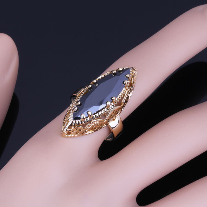 Love Monologue Vintage Party Jewelry Black imitation yx Ring For