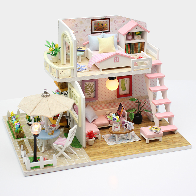 Doll Houses Dolls & Stuffed Toys Diy Doll House Miniature Dollhouse With Furnitures Wooden Handmade House For Dolls Toys Time Travel Gift Toys For Children A016 Selected Material