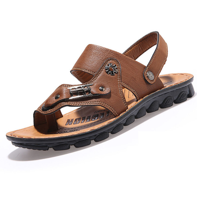 2282d7a69960c4 Men Sandals Men Shoes Outdoor Beach Men Casual Shoes 2016 New Fashion Flat  Summer Slippers Sewing Pu Sandals Under 20 Dollars