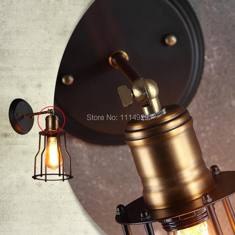 Ձեղնահարկ Vintage պատի լամպ Ամերիկյան - Ներքին լուսավորություն - Լուսանկար 5