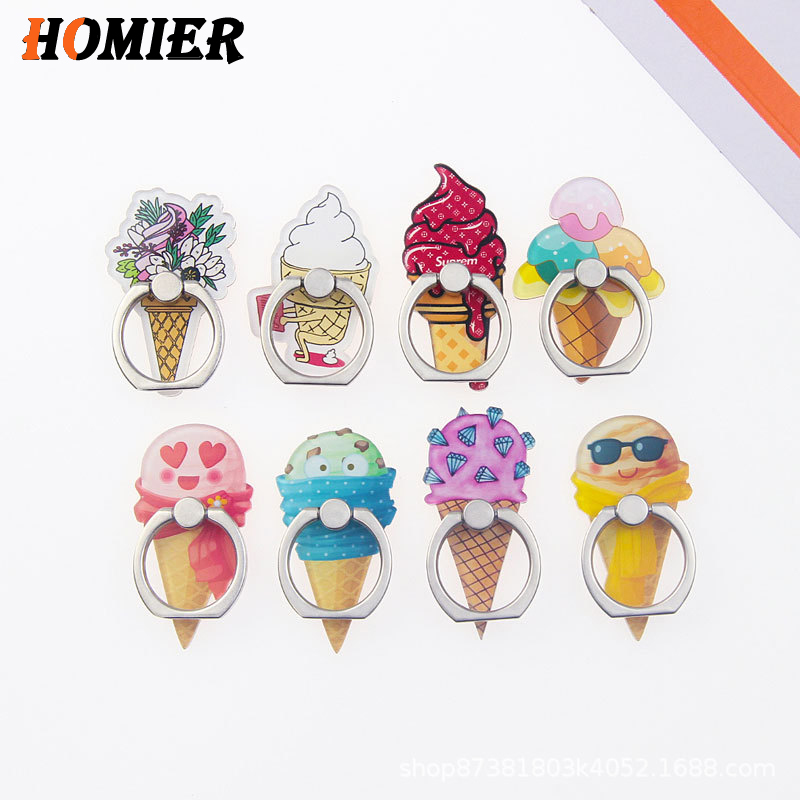 Universal Metal Finger Ring Mobile Cell Phone Cute Cartoon Phone Holder Stand For IPhone 5 6s 7 8 Plus X XS Bracke Holder