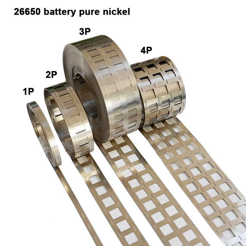 26650 Battery Pure Nickel Strip Cylindrical Li-ion Cell Pure Nickel 26650 Nickel Tape Suitable For 26650 2P 3P Holder