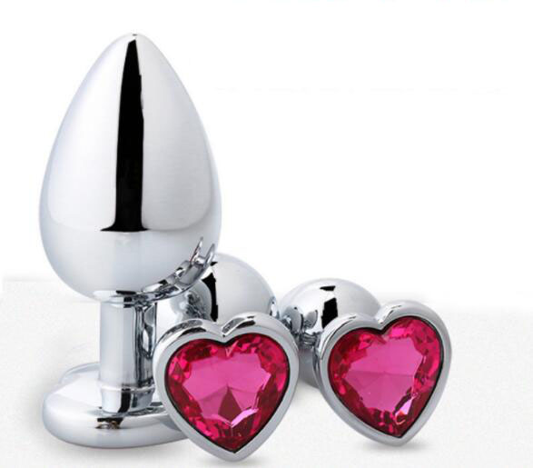 Anal Sex Toys Tireless S/m/l Set Red Heart-shaped Stainless Steel Big Anal Plug Butt Plug Metal Anal Sex Toys For Men Gay Sex Products For Women Top Watermelons
