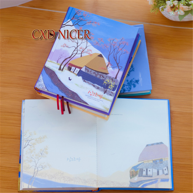 Mountain Village House Paper Notebook Illustrations Thickened Diary Creative Cute Kawaii Planner Material DD1380 department 56 colonial williamsburg village lit house taliaferro cole house