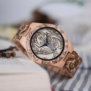 Image 4 - BOBO BIRD WO07 montres à Quartz en bois de pin pour hommes montre de tatouage dimpression UV dans une boîte en bois avec outil pour ajuster la taille livraison directe