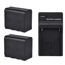 2-Упаковка 6600 мАч NP-F970 кольцо света Батарея Pack + AC Зарядное устройство Наборы для yn308 yn608 YN300 yn600 yn900 308 Вт светодиодный свет
