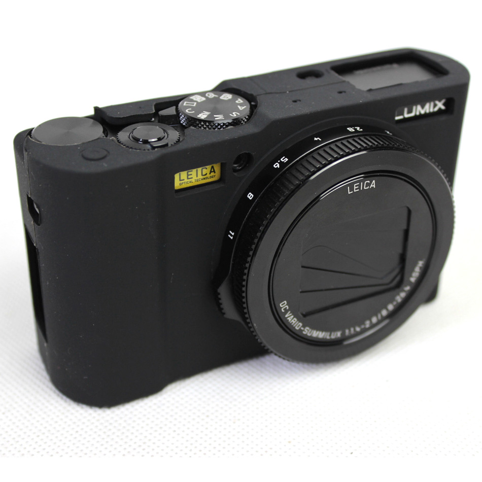 Soft Silicone Rubber Camera Protective Body Cover <font><b>Case</b></font> Skin For Panasonic <font><b>Lumix</b></font> <font><b>LX10</b></font> L-X10 Silicone Camera Bag Lens Bag Neoprene image
