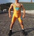 Ouro Aerotics Superman Wrestling Singlet Levantamento de Peso Terno no Homem Calças Justas Suit Combate Personalizável Juventude Um Macacão Pedaço
