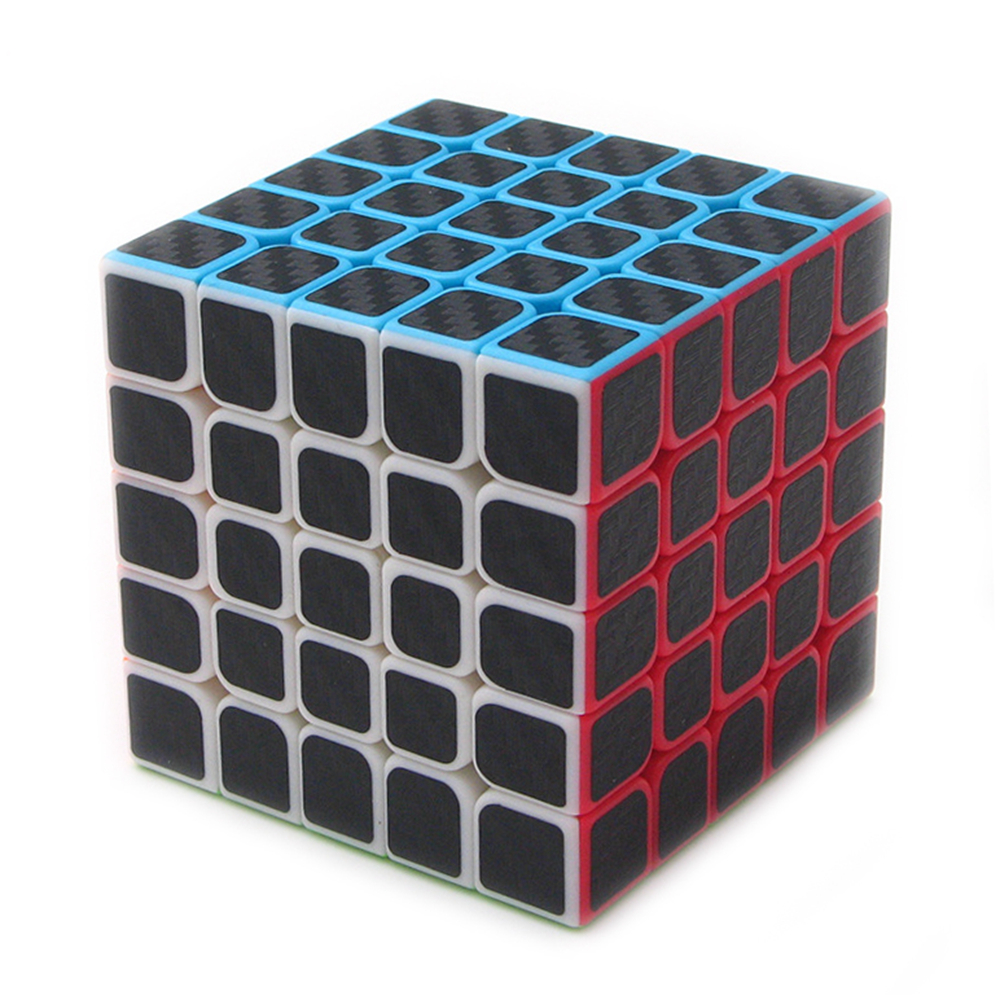 Zcube Black Carbon Fiber Sticker 5x5 62mm Speed Magic Cube Puzzle Game Cubes Gift Educational Toys for Children Kids