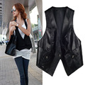 2016 New style lady'sleather vest genuine sheepskin leather waistcoat lace vest slim all-match small leather clothes outerwear