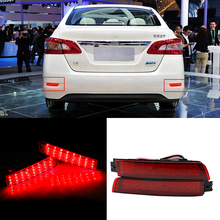 2x LED Car Styling Red Rear Bumper Reflector Light Fog Parking Warning Brake Tail Lamp For Infiniti FX37/35/50/Nissan/Sentra стоимость