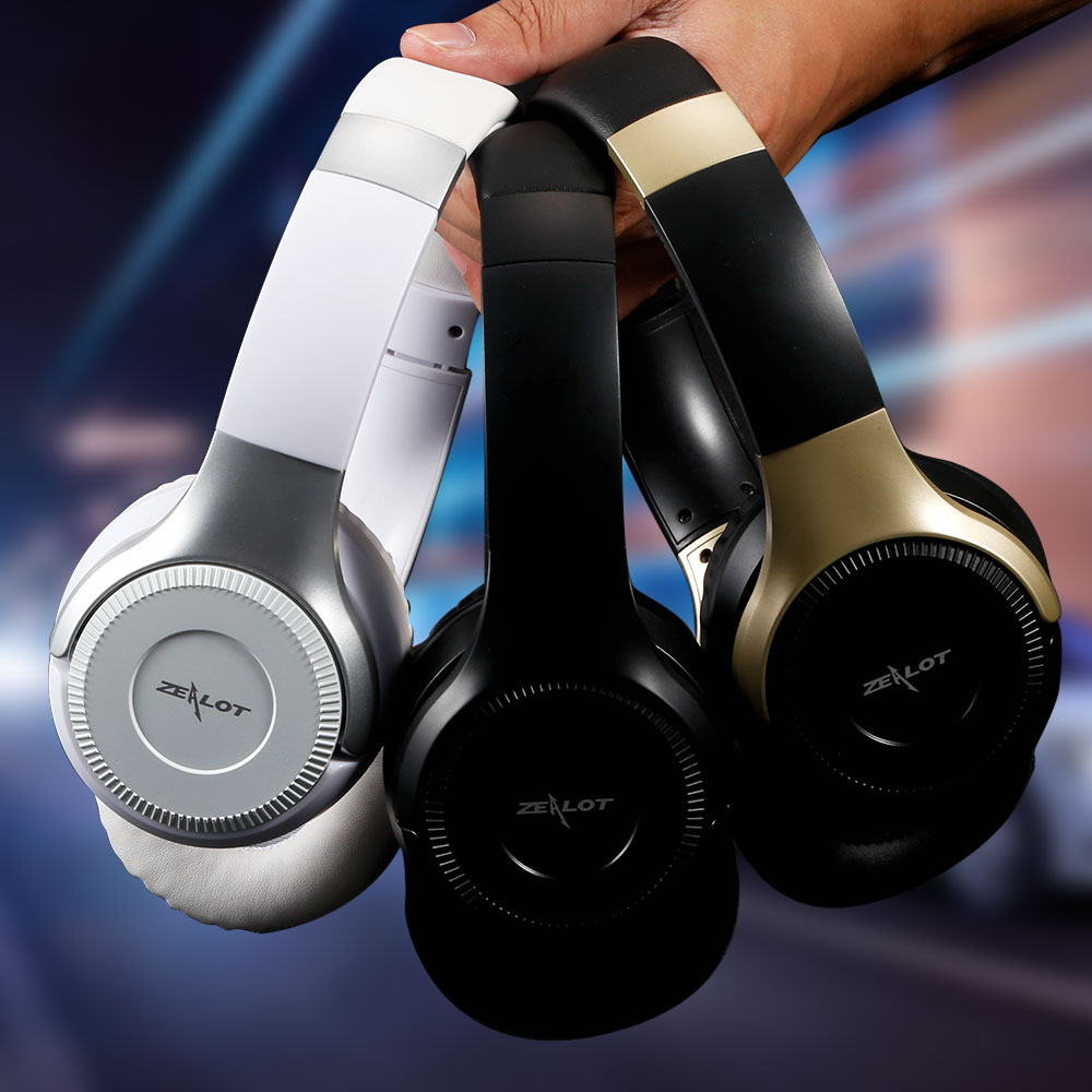 ZEALOT B26T Over Ear Bluetooth Headphone Wireless Earphone 3D Stereo Smart Touch TF Card Play Handsfree in Bluetooth Earphones Headphones from Consumer Electronics