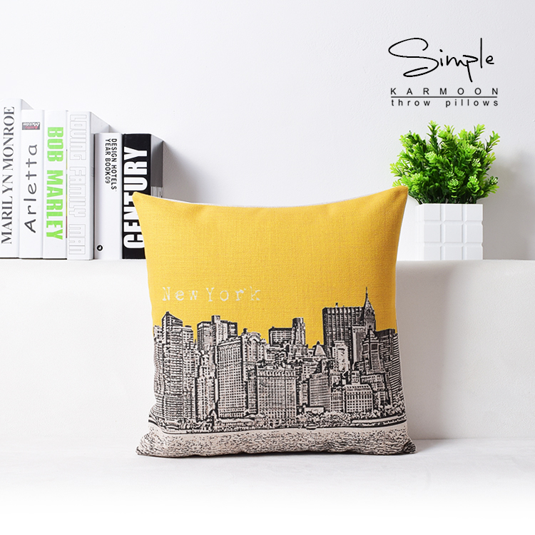 New York City Scenery Throw Pillow Patio Chair Cushions Gift For Bedroom  Decor 45cmx45cm No Filling