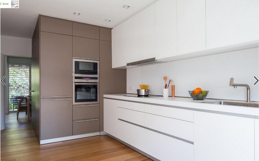 Muebles de cocina color blanco cocina blanca y gris for Comprar gabinetes de cocina